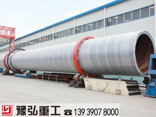 大型锯末干燥设备筒体制造现场